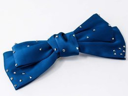 KLAMRA KOKARDA SATIN STAR NAVY BLUE
